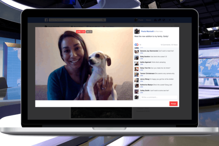 Facebook launches live video from your desktop or laptop