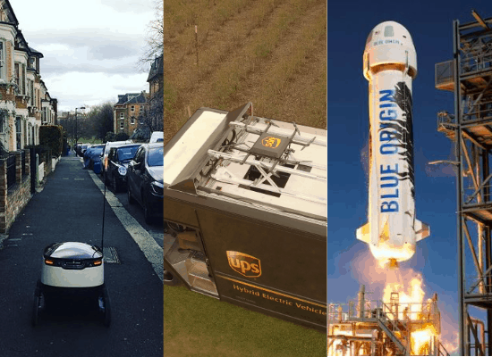 Delivery Robots, UPS Drones, and Amazon Prime to the Moon?