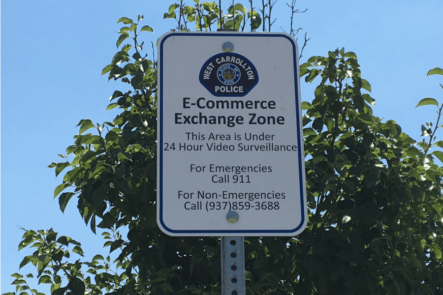 West Carrollton police department eCommerce Exchange Zone