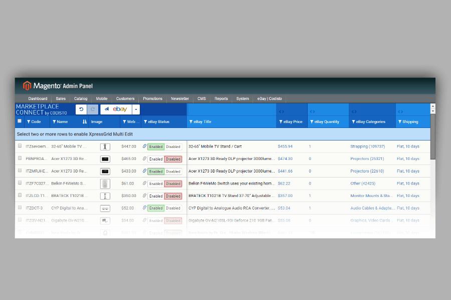 Codisto Magento Integration Screen
