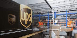 UPS Loading Delivery Truck