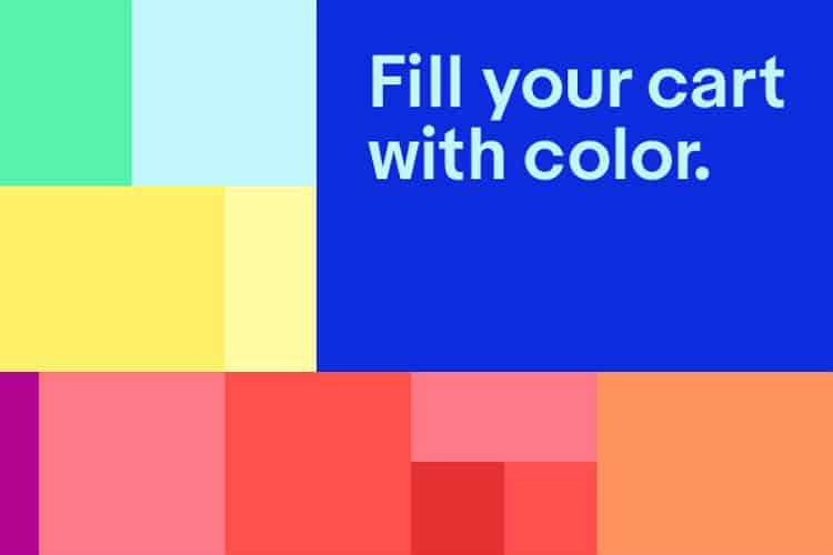 Image: eBay | Fill your cart with color
