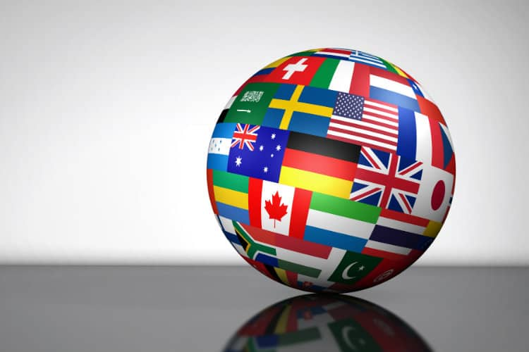 Image: Adobe Stock | Globe with Flags