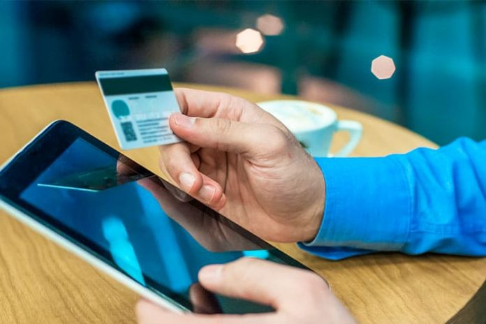 smartphone being used for online retail