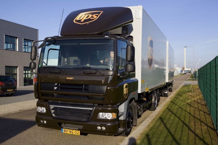 Image: UPS   OTR Freight Truck in Europe