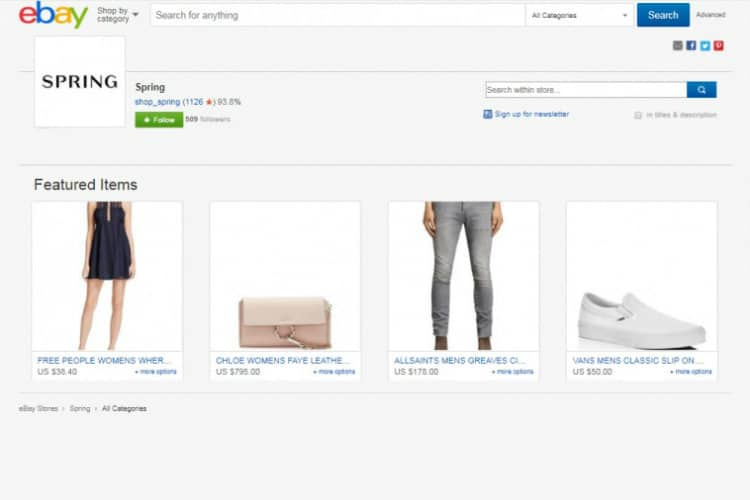 eBay Partners with Spring for Fashion