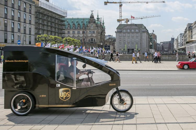 UPS Expands Experiments with Electric Powered Cargo Bikes