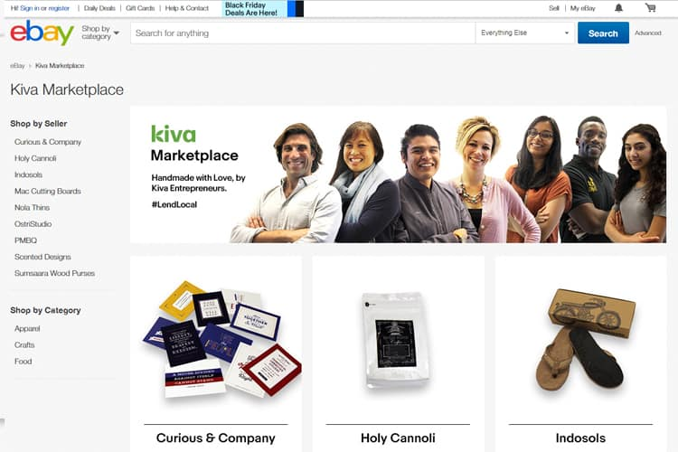 eBay Launches Kiva Marketplace for Small Business Owners
