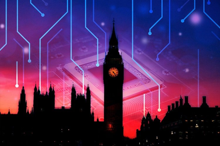 big ben with technology theme