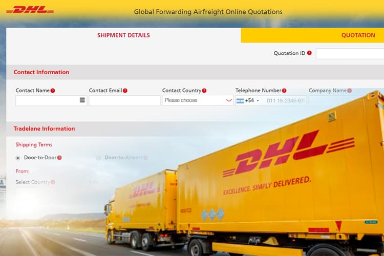 DHL Streamlines Bookings and Air Freight Quotations