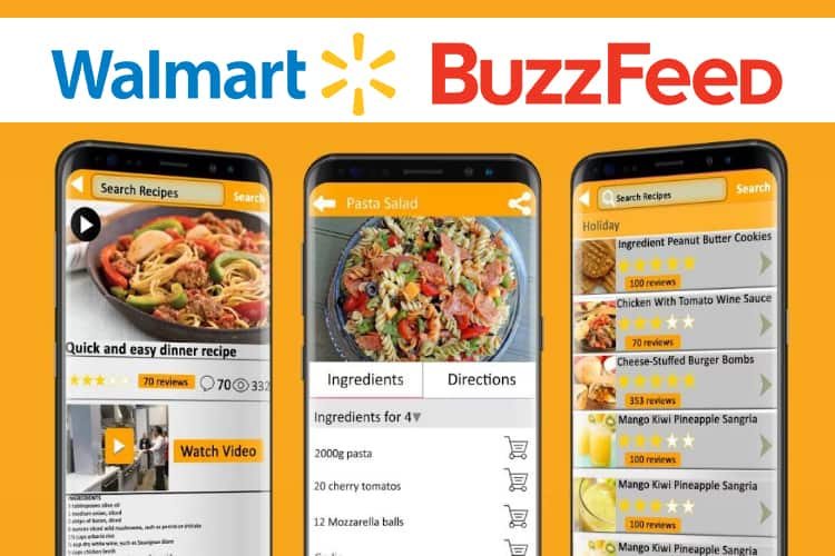 Walmart Partners with Buzzfeed With Its Tasty App