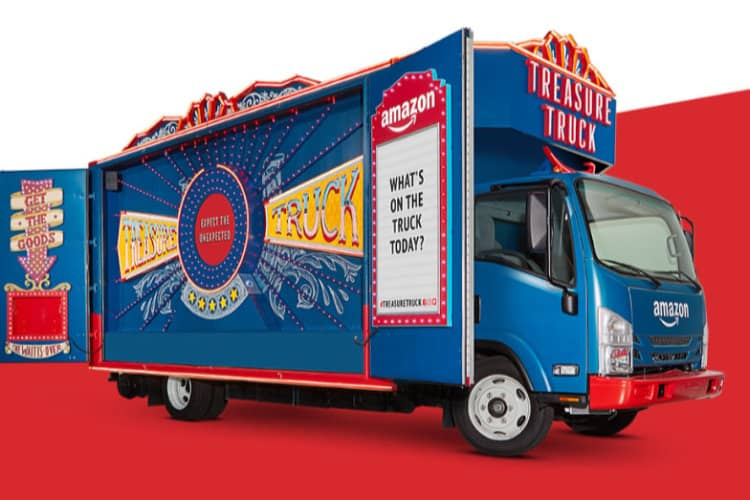 Amazon Brings Treasure Truck Shopping Experience to The UK