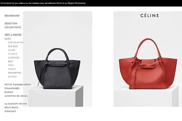Paris Fashion House Celine Make eCommerce Debut