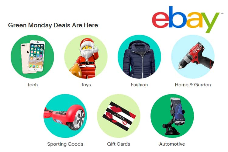eBay Releases Last Minute Deals to Begin on the 10th Anniversary of Green Monday