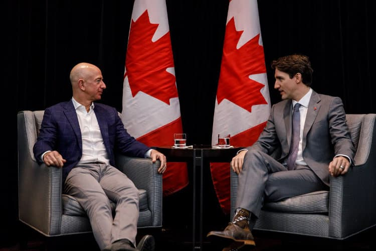 Canadian Prime Minister Trudeau Meets with Bezos and Wenig