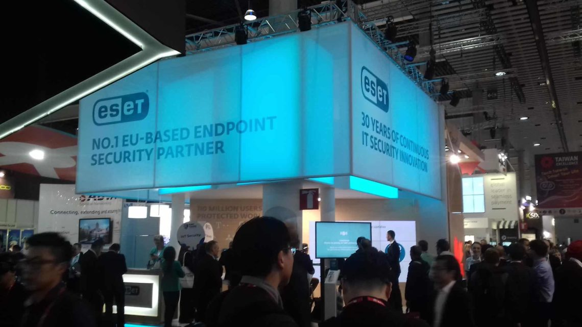 eset stand at MWC 2018