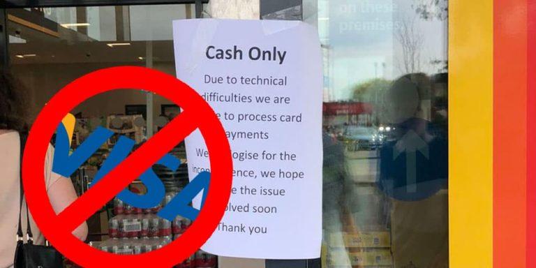 VISA Down Across The UK & Europe – Panic Hits