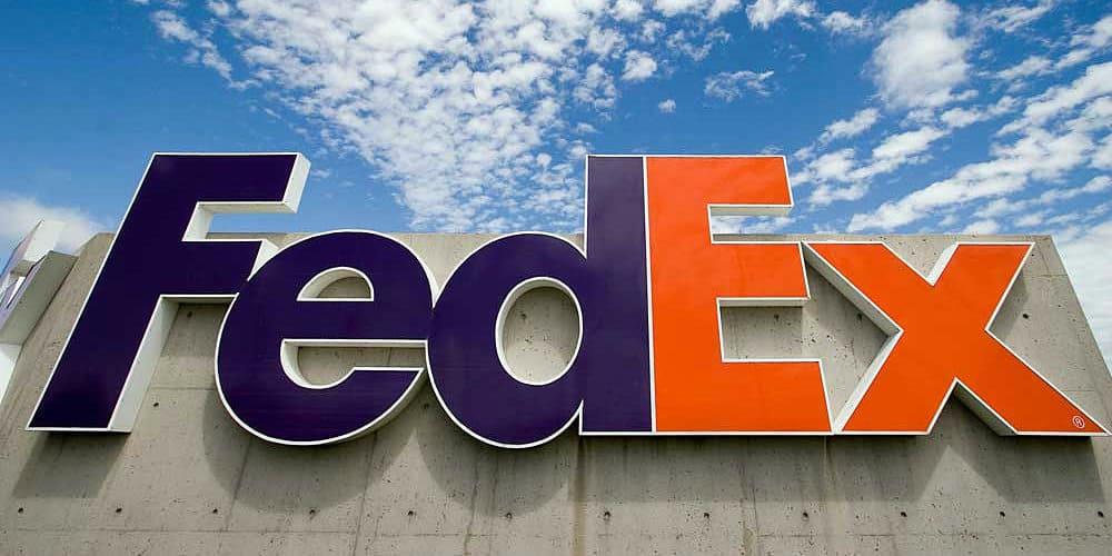 fedex sign blue sky