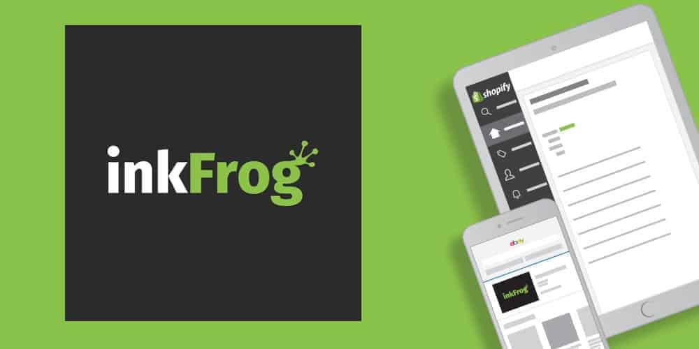 inkfrog logo green background screens