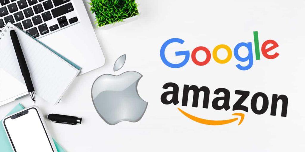 Apple google amazon
