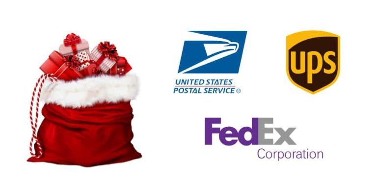 2018 Holiday Domestic Shipping Deadlines for USPS, UPS, and FedEx
