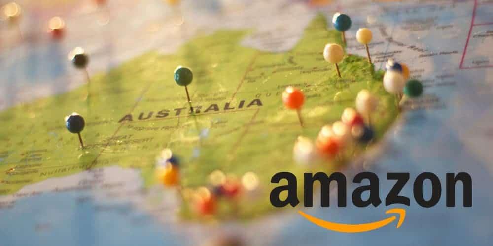 amazon logo australia map