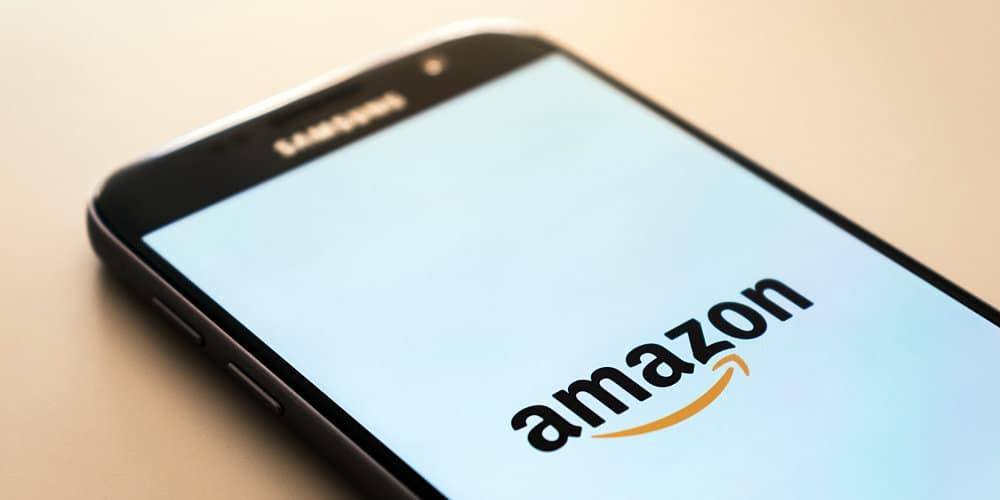 Amazon logo on smart phone