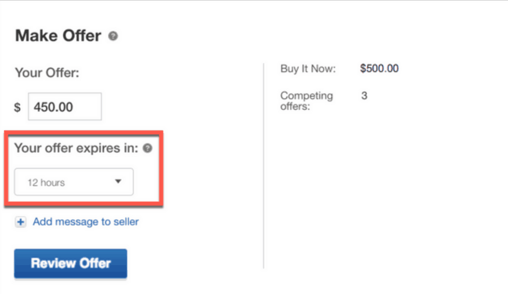 Ebay Testing Change To Best Offer That Allows Buyers To Specify Expiration Date