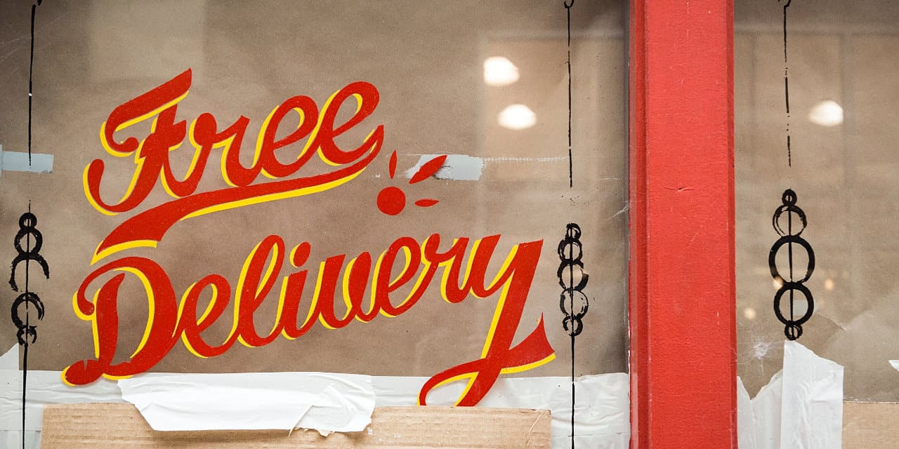 free delivery window signage