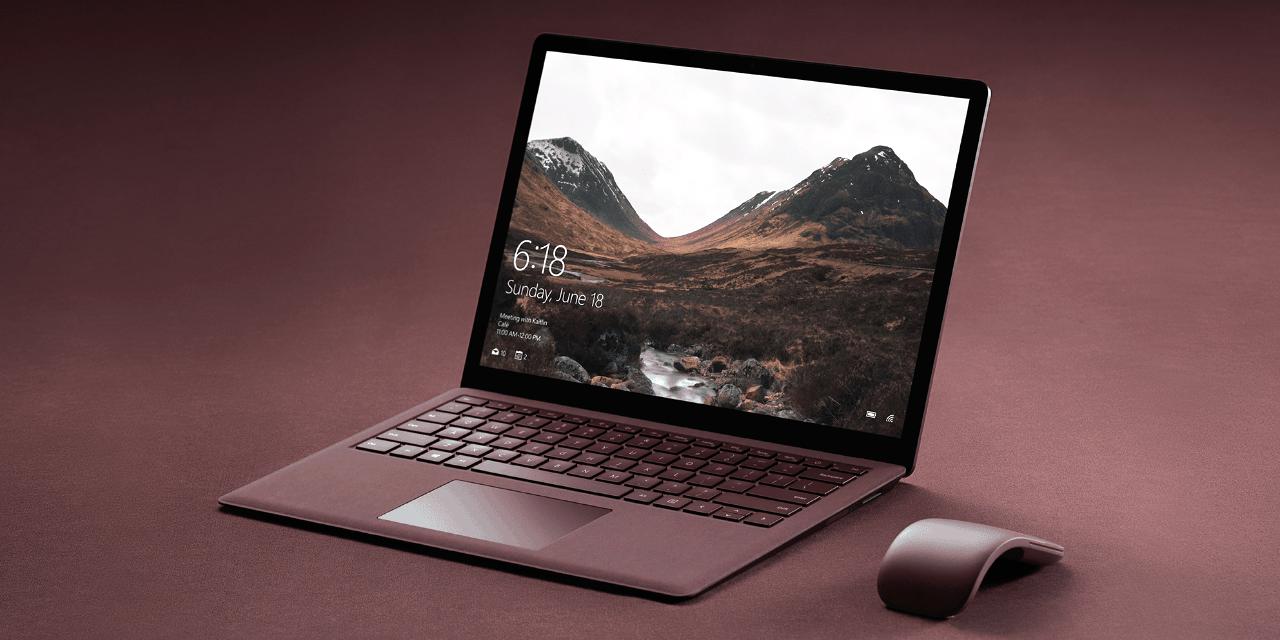 Microsoft Windows Running on Surface Laptop