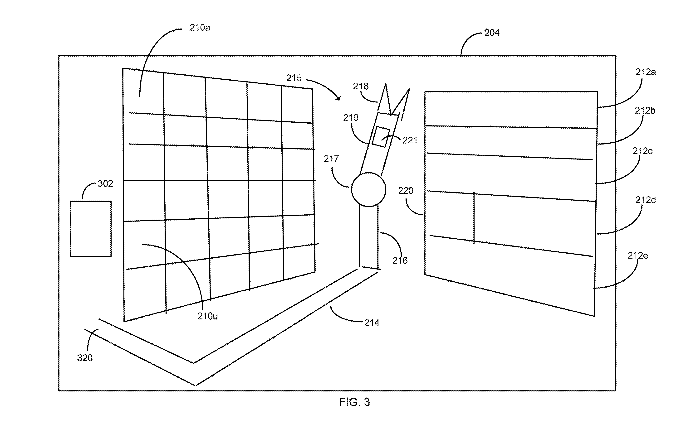 USPS Robot in Freight Bay of Delivery Vehicle - Patent Drawing