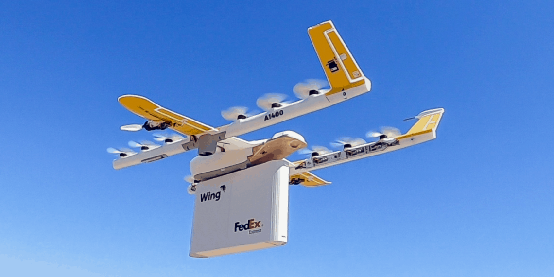 FedEx / Wing Aviation Drone Delivery