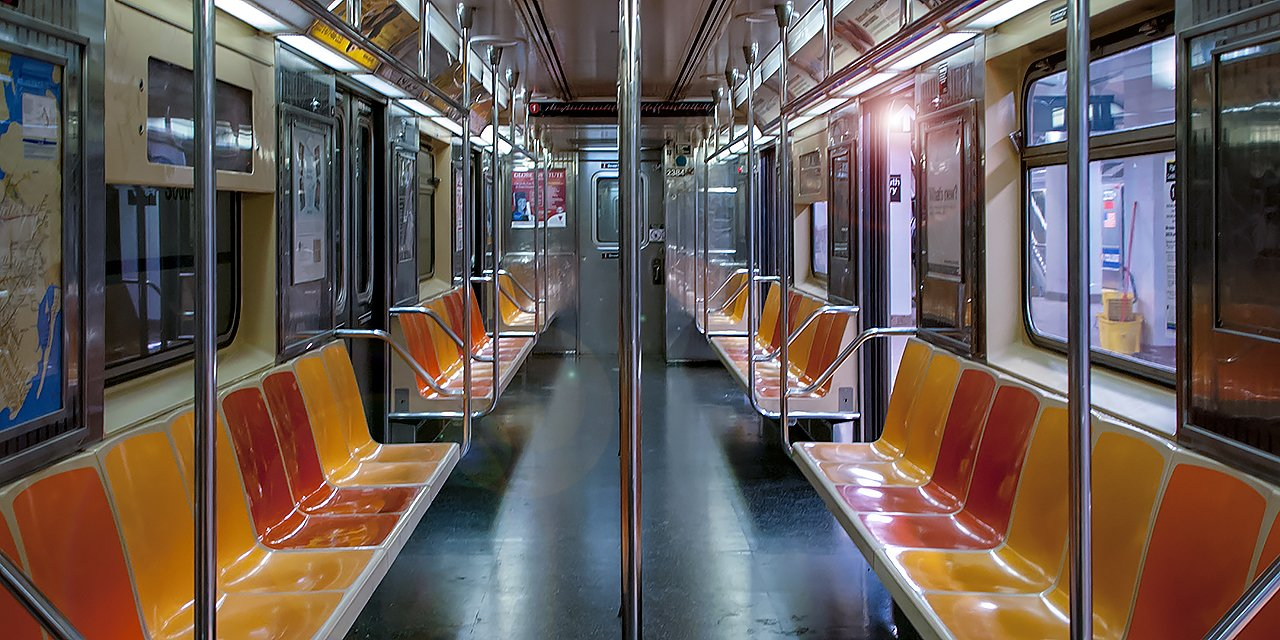 Empty New York Subway Car