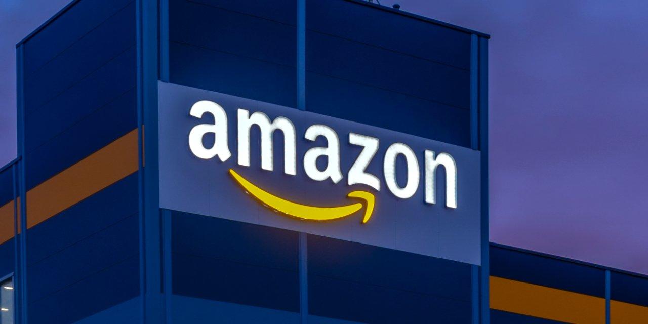 Amazon Logo on Fulfillment Warehouse