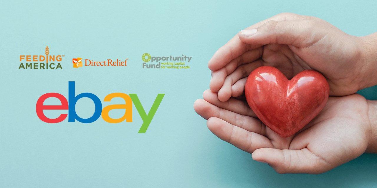 eBay, Feeding America, Direct Relief, Opportunity Fund