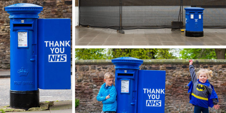 Royal Mail Salutes NHS With Blue Thank You Postboxes