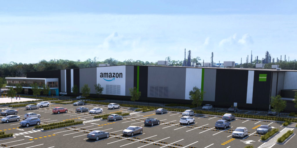 Amazon rendering of fulfillment center in Queensland Australia