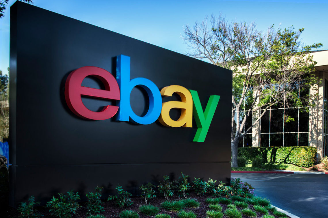eBay sign at San Jose corporate offices
