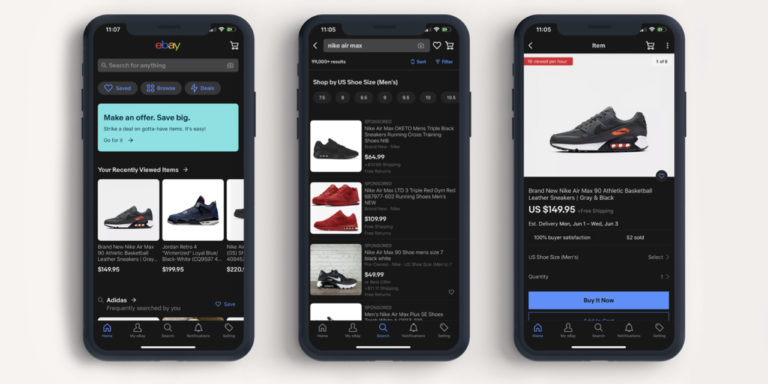 eBay Launches Dark Mode on IOS and Android Mobile Apps