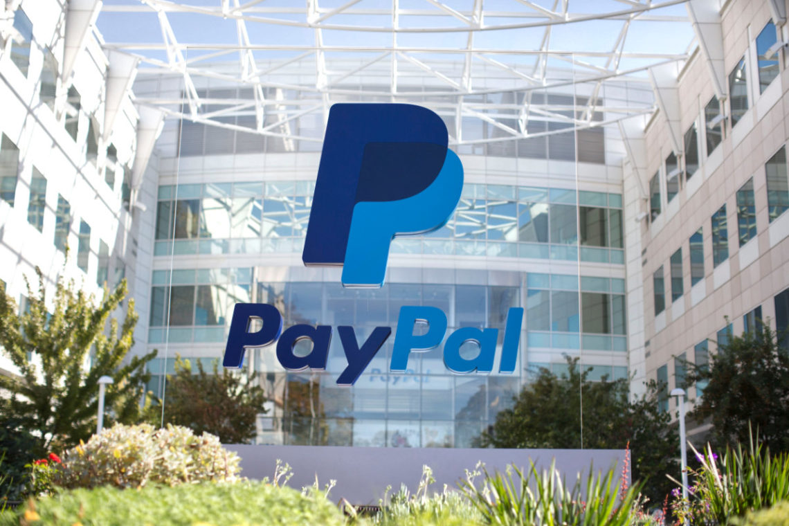 PayPal sign at its corporate office