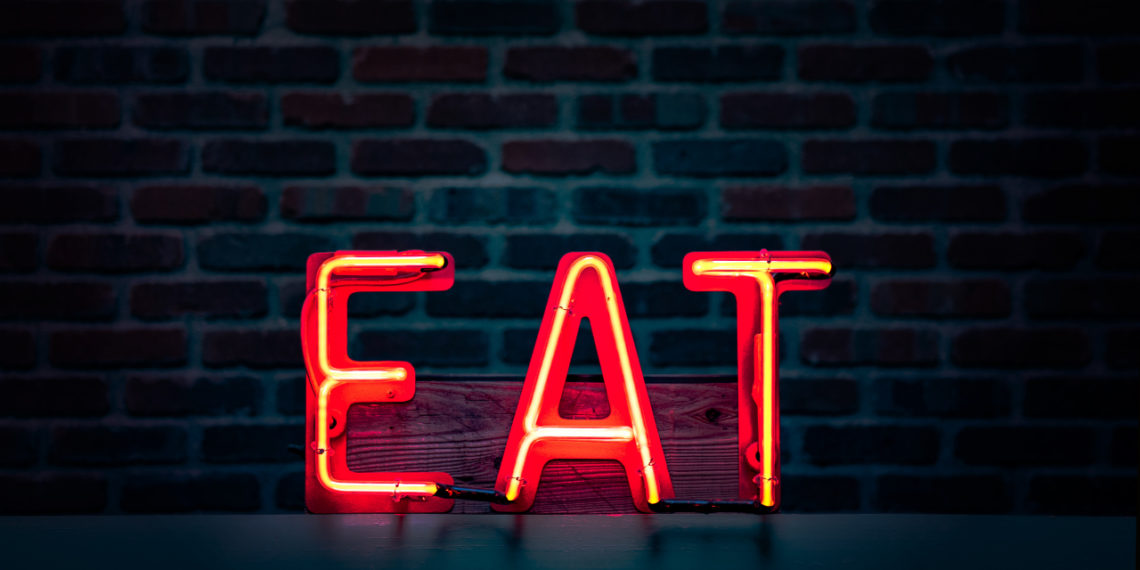 Restaurant neon sign EAT