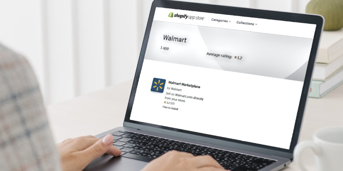 Walmart Marketplace app rating in Shopify app store