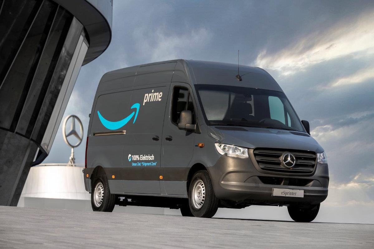 Amazon Mercedes Electric Delivery Van