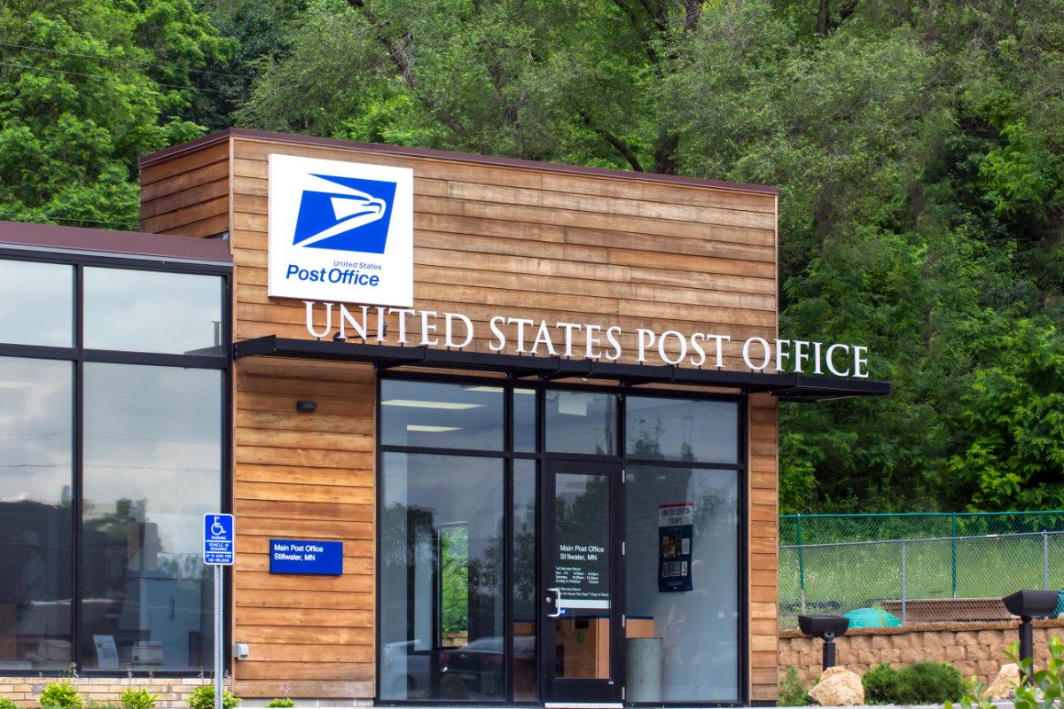 U.S. Postal Service Building In Rural Setting