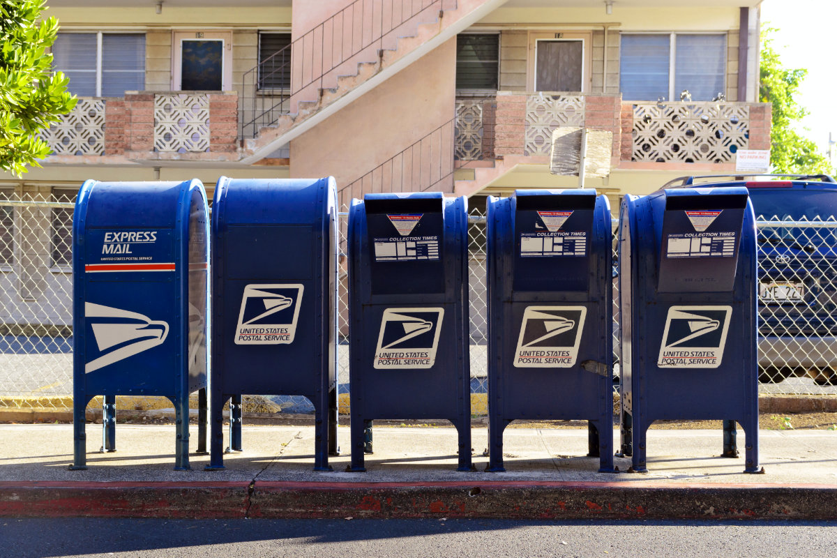 United States Post Office Mail Boxes