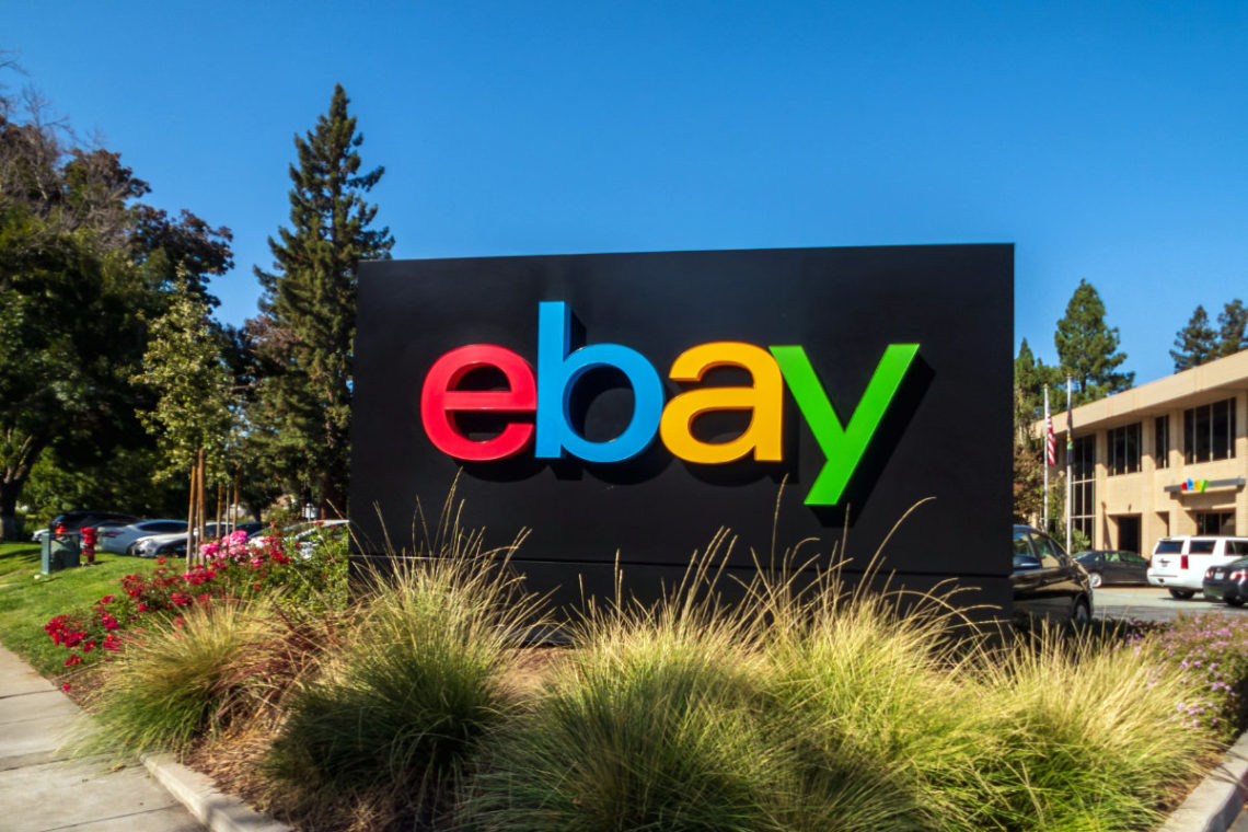 eBay sign at San Jose corporate headquarters