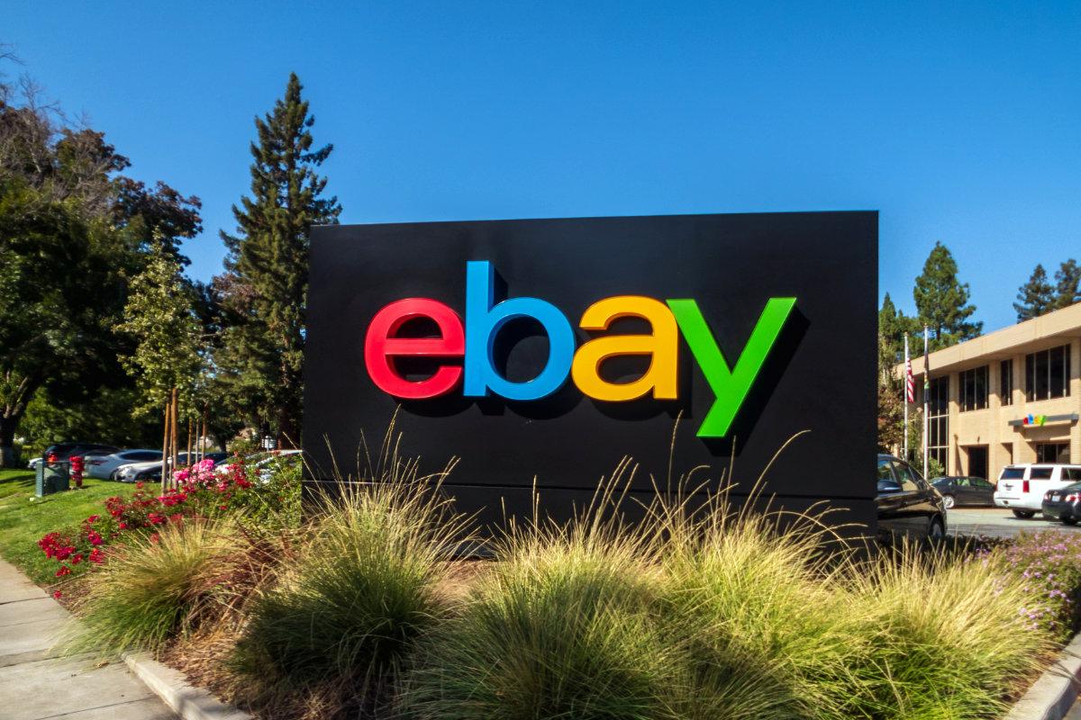 eBay sign at San Jose corporate headquarters