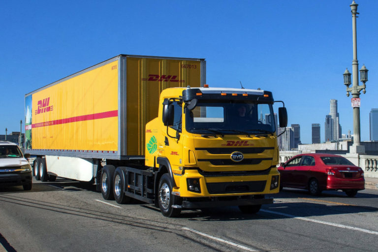 DHL Trials Four Electric Trucks In Los Angeles