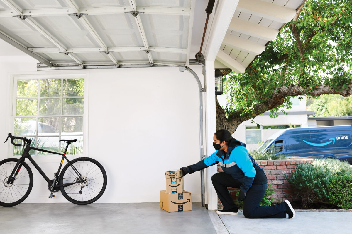 Amazon contactless in-garage delivery