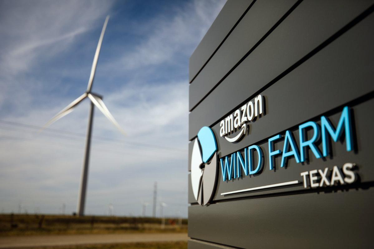 Amazon wind farm in Texas